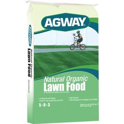Agway Organic Lawn Fertilizer 5-0-3  40 Lb