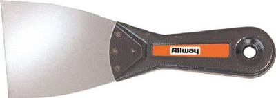 "Allway Model T30S, Metal Handle Wall Scraper, 3"" Stiff Blade, Flame Proof"