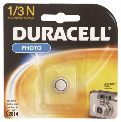 Duracell, DL1/3NBBPK, 3 Volt, Lithium Battery