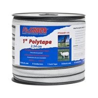 "Electric Fence Polytape, 1"" x 656', Yellow"