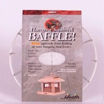 """Heath Model HB-1, Hanging Squirrel Baffle, 13.25"""" Dia, Clear"""