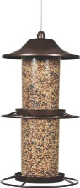 Perky-Pet Panorama Metal Bird Feeder, 4.5 Lb Capacity