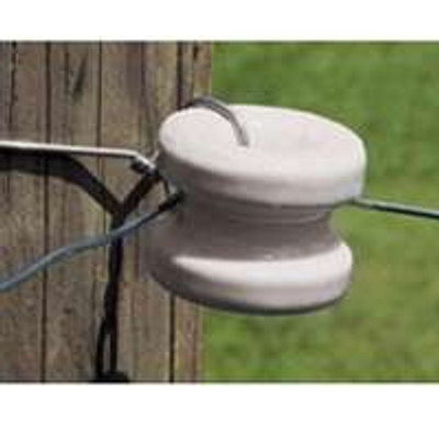 Electric Fence Wood Corner Post Large Porcelain Insulator