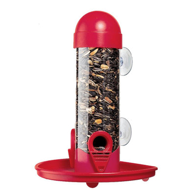 Window Tube Bird Feeder With Seed Catch