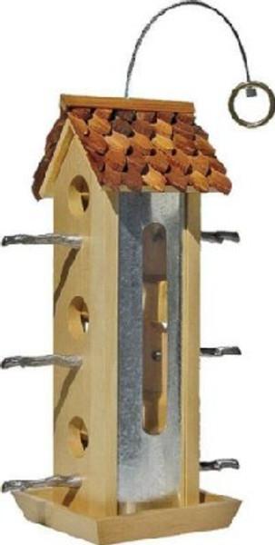 Wild Bird Feeder, Wood Tin Jay