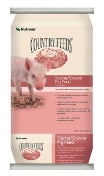 Country Feeds Pig Starter-Grower Feed, 18%, 50 Lb