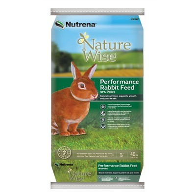 Nature Wise Rabbit Pellets, 18%, 40 Lb
