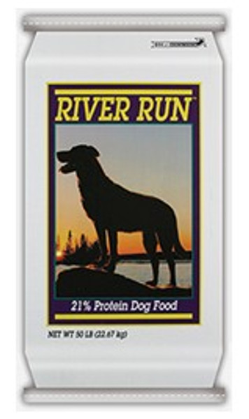 River Run Dog Food, 21%, 50 Lb