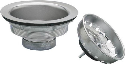 "Kitchen Sink Strainer 3-1/2"" Chrome"