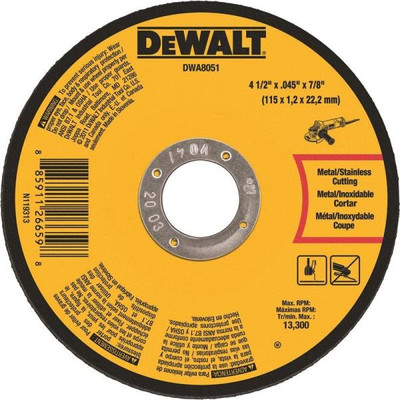 "Metal Cut Off Wheel, 4.5"" x .045"", 7/8"" Arbor"