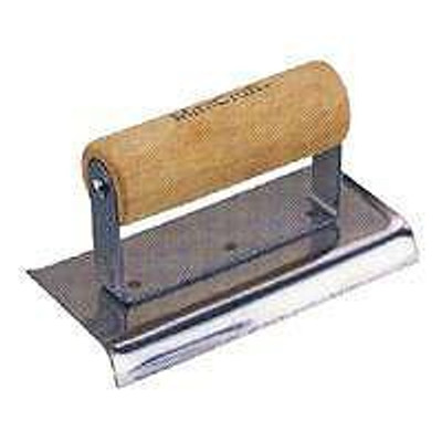 "Concrete Edger, Stainless Steel, 3"" X 6"", Curved Ends"