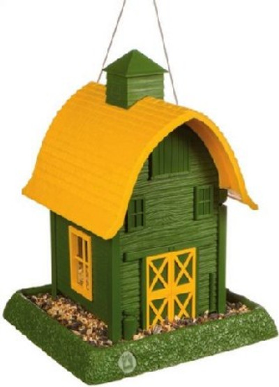 Wild Bird Feeder, Green Barn