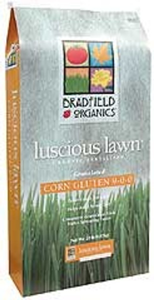 Bradfield Organic Lawn Fertilizer With Corn Gluten, 9-0-0, 40 Lb