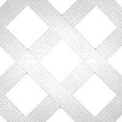 """Plastic Lattice Panel 24"""" x 96"""" 8'  White"""