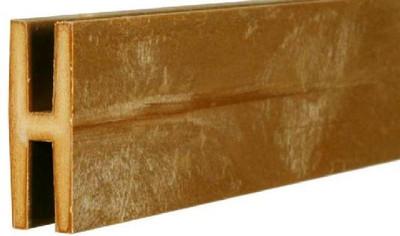 Plastic Lattice H Channel, 8'  Cedar