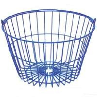 Egg Basket, Holds Up To 15 Dozen Eggs, Plastic Coated, Blue