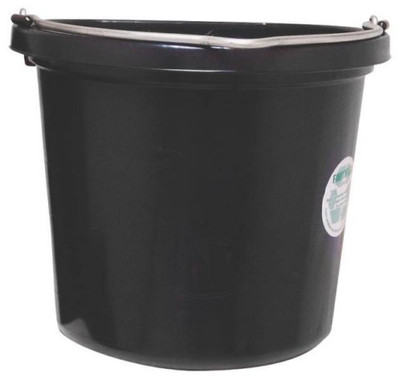 Flat Back Pail, 20 Quart Rubber Polyethylene