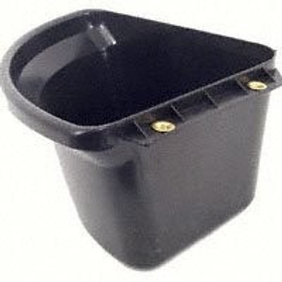 Corner Feeder Bucket 6 Gal, Black
