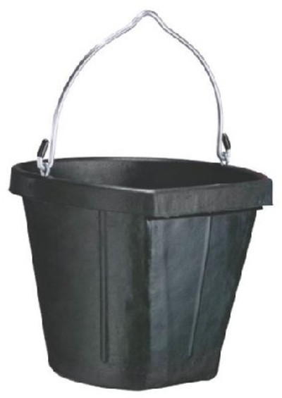 Rubber Flat Back Pail  18 Quart