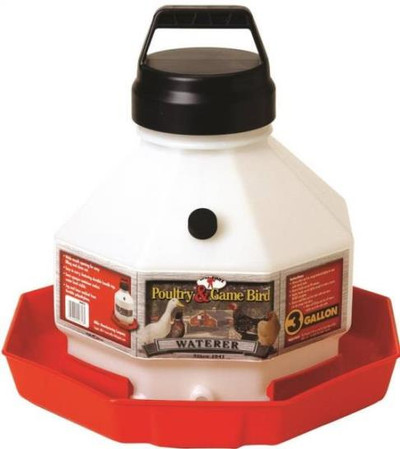 Poultry Waterer Plastic 3 Gal