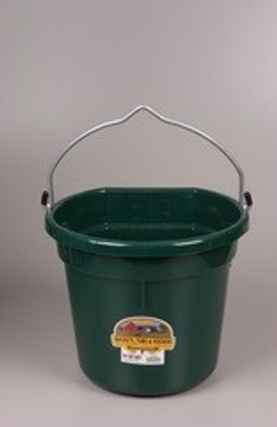 Flat Back Pail, Green,  5 Gallon