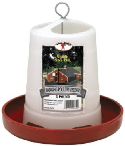 Poultry Feeder, 3 Lb Capacity