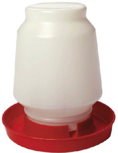 Poultry Fount, 1 Gallon,  Plastic