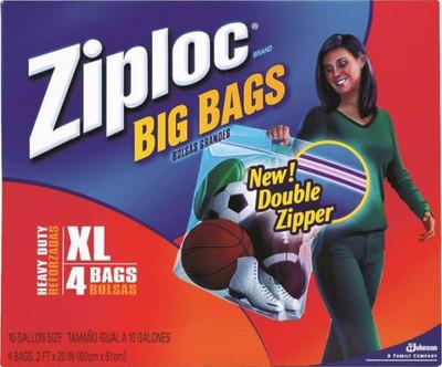 "Ziploc, Extra-Large HD Big Bag, 24"" x 20"", 4 Pack"