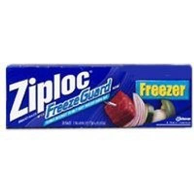 Ziploc, Freezer Zipper Bag, 2 Gallon, 10 Pack
