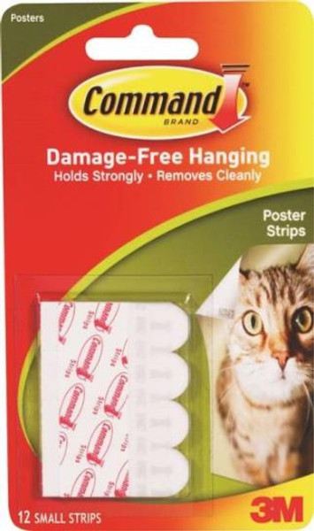 3M Command Poster Strip, 8 Pack
