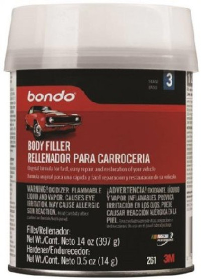 Bondo, Lightweight Body Filler, 1 Pint