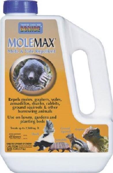 Bonide, MOLEMAX, Mole & Vole Repellant, Granular, 5 Lb Jug