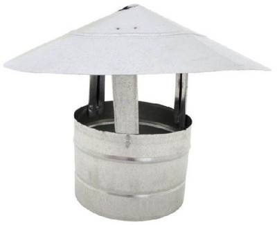 Stove Pipe, Galvanized, Roof Cap 6""