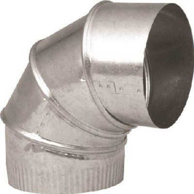 "Stove Pipe, Galvanized, 5"", Elbow, Adjustable, 28 Ga"