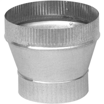 "Stove Pipe, Galvanized, Reducer, 5"" x 4"", 26 Ga"