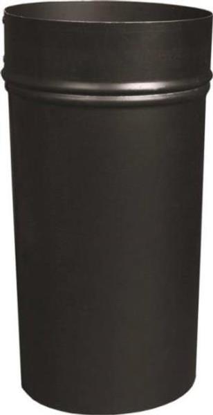 "Stove Pipe, Black, 6"" x 12"", Slip Joint, 6"" x 12"", 24 Ga"