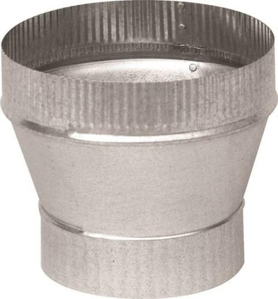 "Stove Pipe, Galvanized, Increaser, 4"" x 6"", 26 Ga"