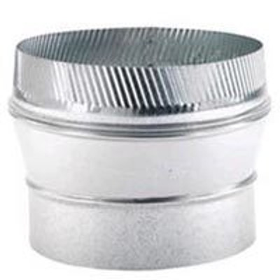 "Stove Pipe, Galvanized, Increaser, 6"" x 8"", 26 Ga"