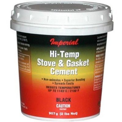 Furnace Cement, 946 ml, Tub, Black, Thick Paste