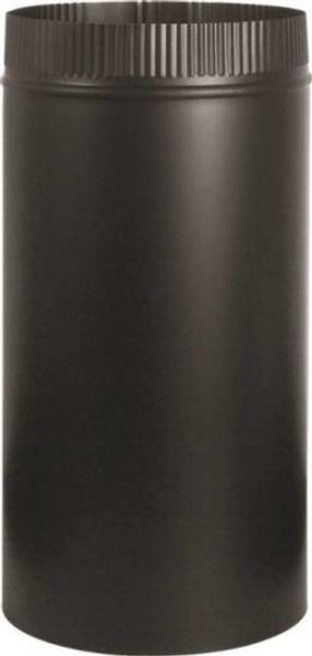 "Stove Pipe, Black, 6"" x 12"", 24 Ga"