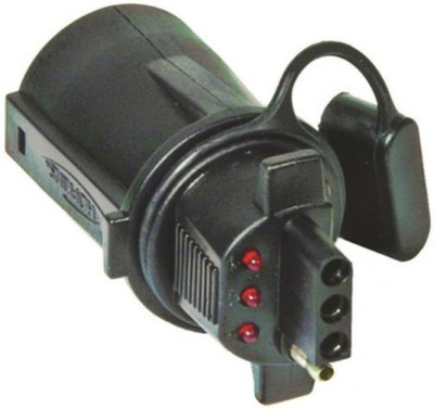 Trailer Adapter with LED, 4 Wire, Plastic