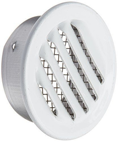 "Louver 2"" Round White Alum 6 Pack"