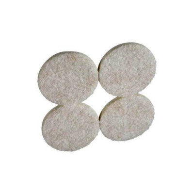 "Felt Pad With Adhesive Back, 1-3/4"" Round, 8 Pack, Beige Color"