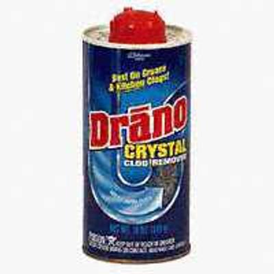 Drano Crystal Drain Opener, 18 Oz