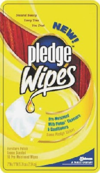 Pledge Lemon Wipes, 24 Pack