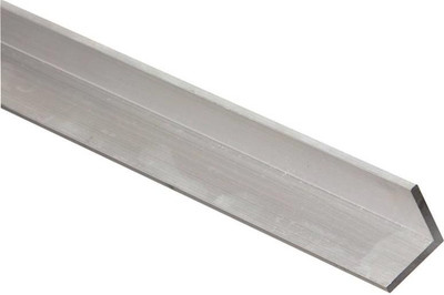 "Aluminum Angle, 1-1/2"" x 1/16"" x 72"", Mill Finish"