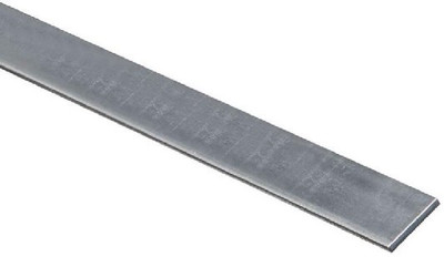 "Steel Flat Bar, 1"" x 1/8"" x 36"", Zinc Plated"