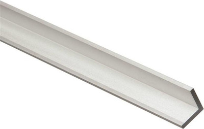 "Aluminum Angle, 3/4"" x 1/8"" x 72"", Mill Finish"