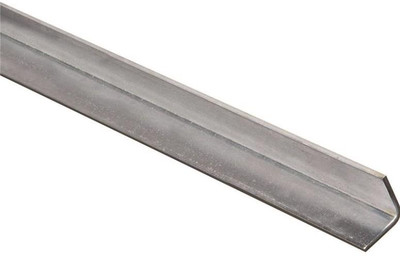 "Steel Angle Bar, 1"" x 48"" x 11 Ga, Zinc Plated"