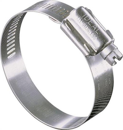 "Hose Clamp SS, #  16, 13/16"" -  1-1/2"", With SS Screw"